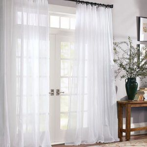 Pottery Barn Curtain Panel Sheers 108″Lx50″W White